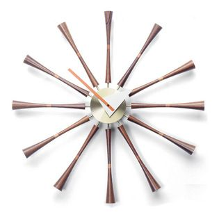 Inova Team -Modern Metal And Wood Sundial Clock - Remove that old stick from the ground—there's no need to read shadows! A new technology is on the rise: it's called the clock, a modern sundial created to present the time for you without all the extra work. Constructed of American walnut wood and metal, the Modern Sundial is a stylish invention sure to be the tick and tock of the town!