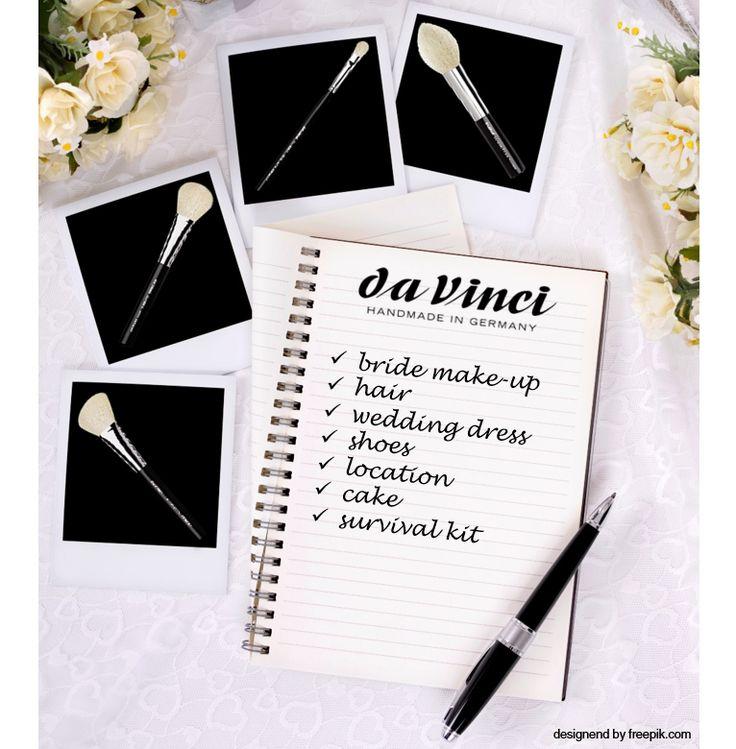 da Vinci Makeup Brushes #wedding #look #makeup #makeupbrushes #hochzeit #hochzeitsmakeup #kosmetikpinsel #pinsel #davinci #handmade
