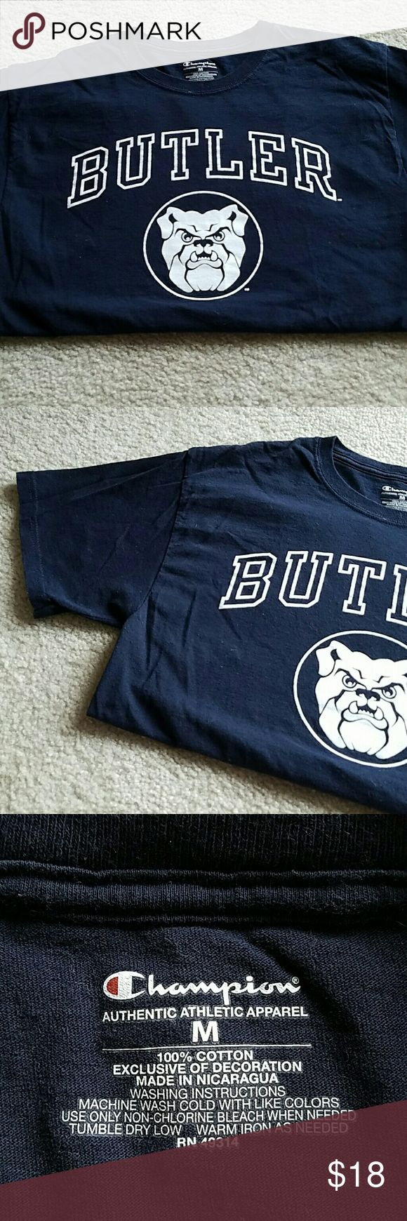 Butler University Bulldog Tee Butler University Bulldog Tee. Navy with white print. Ink is in great condition! Tops Tees - Short Sleeve
