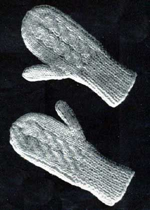 3 Years Old Cabled Mittens Knitting Patterns 2 needle mittens Pinterest...
