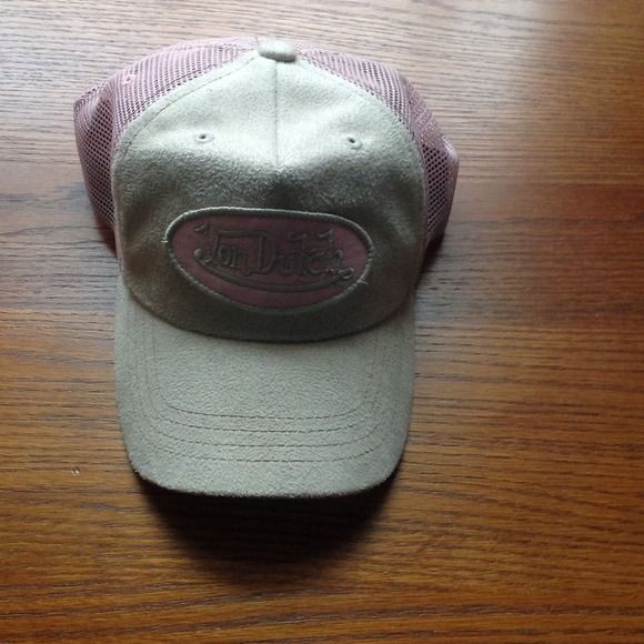 Von Dutch hat Light pink and tan hat. Other