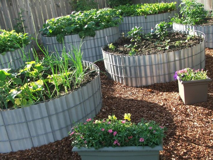 Planting Beds Design Ideas fact sheet garden bed design Charming Raised Garden Bed Design Featuring Grey Platic Round Raised Beds As Well As Landscape Garden Design Also Landscape Design Ideas Appealing