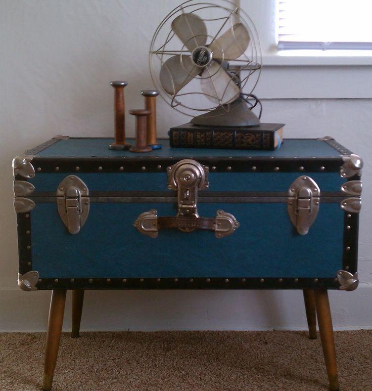 Schatz truhe couchtisch holz kaffee tisch marmor top for Tisch koffer design