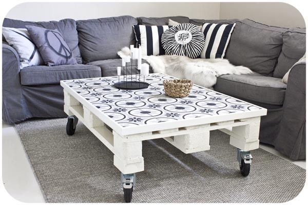 Beautiful Coffee Table - Reused Pallet on Wheels ~*~*~*~General Pallet is the Largest Distributor of Pallets in the Northeast. We are one of the largest #pallet recyclers in the United States. We believe in promoting the responsible use of pallets after they leave the distribution cycle. Help us keep this world a better place and #repin these great #upcycle ideas! www.generalpallet.com