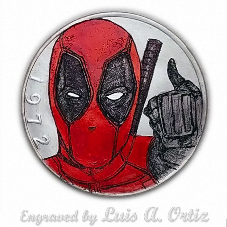 Deadpool RR S1052 Ike Hobo Nickel Engraved & Colored by Luis A Ortiz