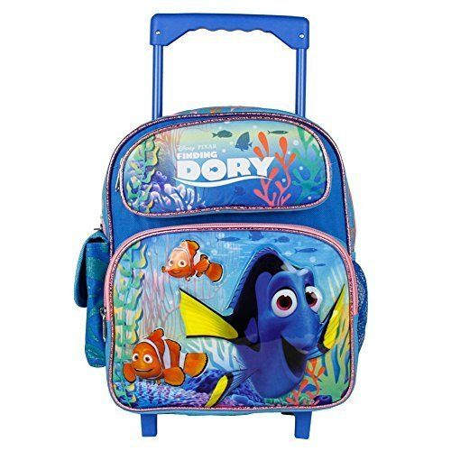 Disney Finding Dory New Girls 12' Rolling Backpack Girls Book Bag. #Disney #Finding #Dory #Girls #Rolling #Backpack #Book