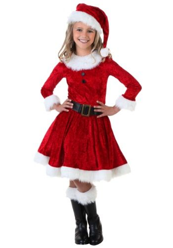 The North Pole, elves and Santa are all in your little one's future when she wears this Girl Mrs. Claus Costume, or you could just have her bring some extra holiday cheer to the homestead.