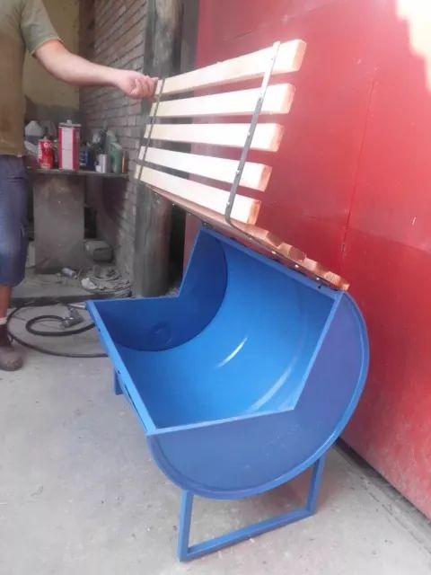 banco tambor reciclado baú interior aproveitável ecológico