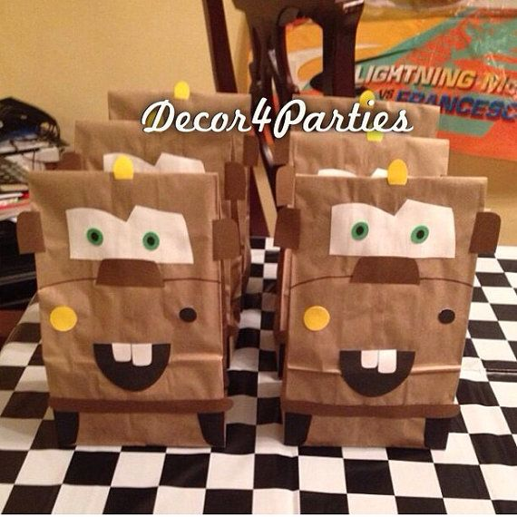 Cars Themed Tow Mater Favor Party or Goodie bags by Decor4Parties, $20.00