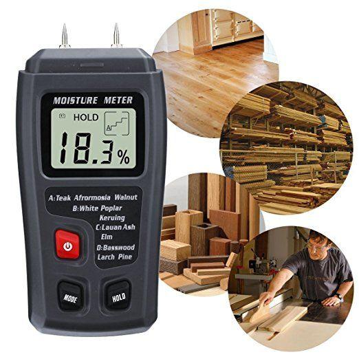 Wood Moisture Meter, GOCHANGE Digital Logs Moisture Meter Damp Meter / 0-99% Wood Humidity Tester Detector / Firewood Logs Timber Humidity Measuring Device