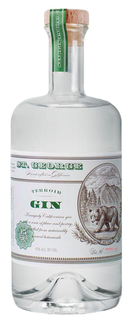 Gin old school bottle
