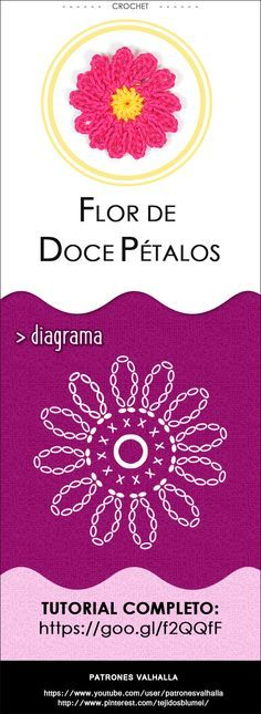 #Flor de Doce Pétalos a #crochet   #PatronesValhalla