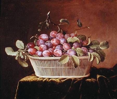 Pierre Dupuis-Basket of Plums