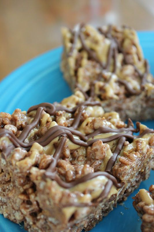 Reeses Chocolate Peanut Butter Rice Krispie Treats