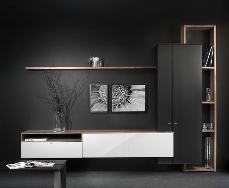 Design kast Interstar -  Dutch Design Assen - Eindeloos te combineren - Zwart / wit / hout - touch greep - beatiful furniture