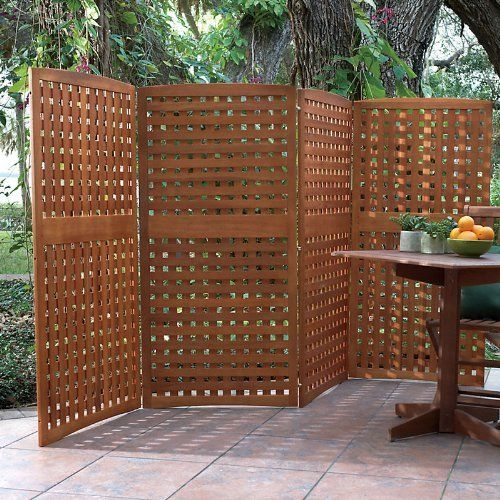 Natural 4 panel yard privacy screen 30x60 improvements for Natural privacy fence