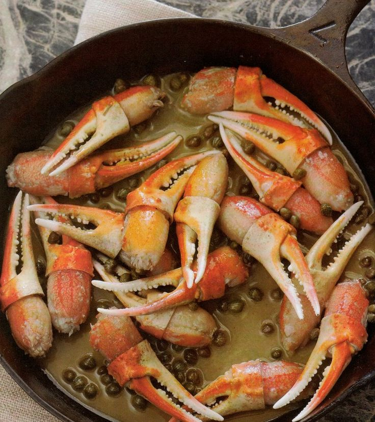 Seasoned snow crab claws sautéed in a mixture of white wine, capers, lemon juice, and butter. Get the recipe and more at www.chefgarvin.com