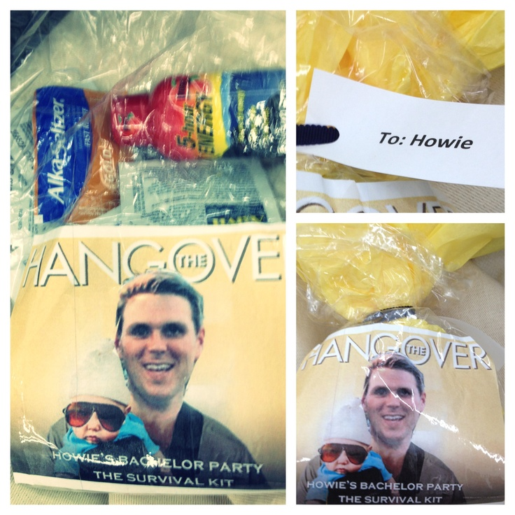 Bachelor party goody bags