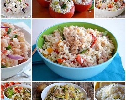 Raccolta insalate di riso