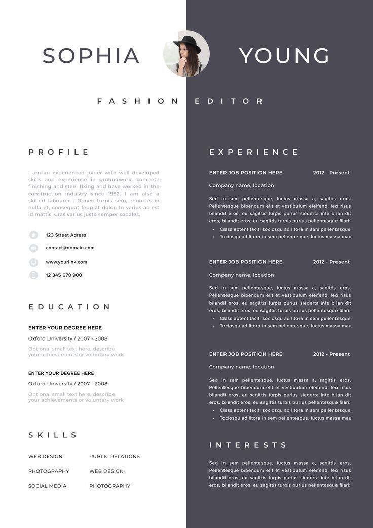 Resume Template Resume Cv Template Cv Design Curriculum Vitae Cv Instant Download Resume Resume Templates Curriculum Vitae Template Cv Cv Artistique