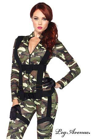 Militaire et Marin Costume Parachutiste Leg Avenue #legavenue #costumes #déguisement #halloween