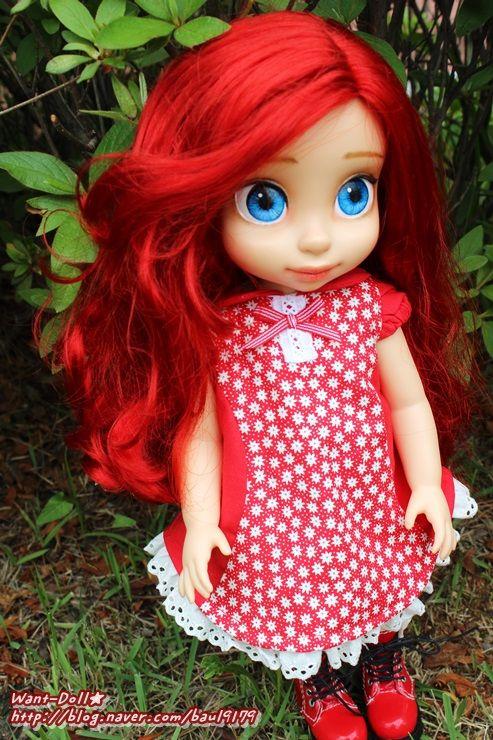 베이비돌 옷) 29. 꽃무늬 빨강 원피스 - sold out : 네이버 블로그