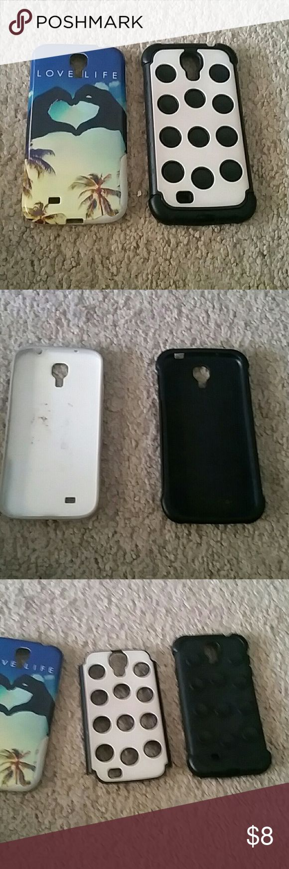 Galaxy 4 cases Two galaxy 4 cases cute and great for protection. Other