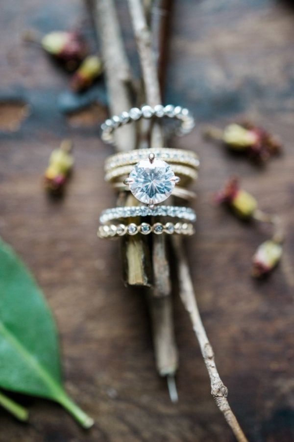 Delicate Engagement Rings and Diamon Wedding Bands By Susie Saltzman | Christina Lilly Photography on @AislePerfect via @aislesociety