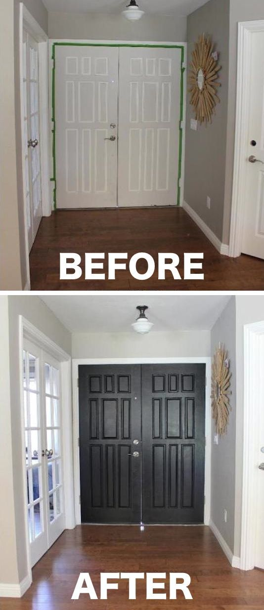 #7. Paint the inside of your entry door a color that pops -- 27 Easy Remodeling Projects That Will Completely Transform Your Home | Listotic