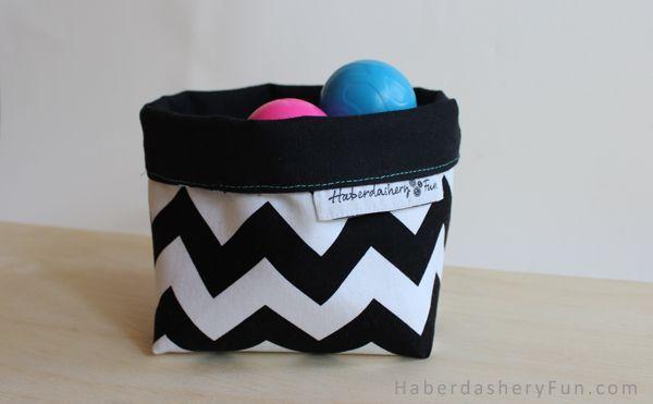 DIY.. Easy Fabric Storage Bin   Haberdashery Fun