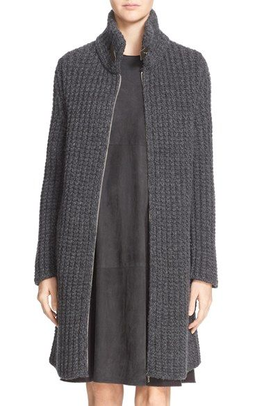 Fabiana Filippi Gauge Knit Cashmere Sweater Jacket
