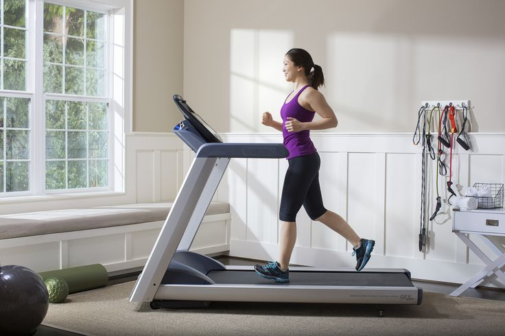 Precor TRM425 Treadmill - New technology uses your preferences and exercise data to deliver a personalized workout experience that promotes better results and saves you time.   #Precor #treadmills #homegym