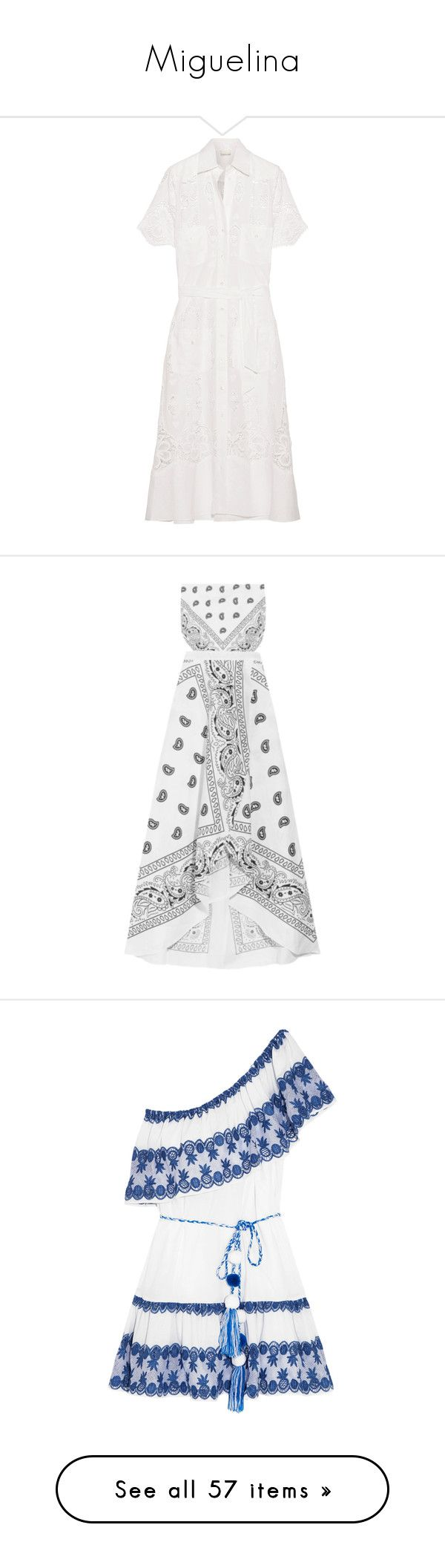 """""""Miguelina"""" by shoppings9 ❤ liked on Polyvore featuring dresses, calf length dresses, cut loose dresses, midi dress, loose dress, loose fit dress, midi wrap dress, white bandeau bikini top, white cutout dresses and cutout dresses"""