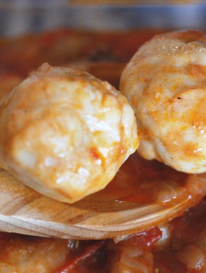 Botswana dumpling get the recipe at http://www.internationalcuisine.com/botwsana/