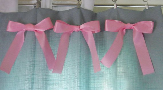 Pink and Turquoise Curtains for baby nursery and girls room