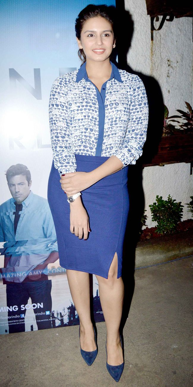 Huma Qureshi at a screening of 'Gone Girl'. #Bollywood #Fashion #Style #Beauty
