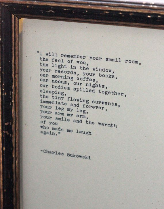 Charles Bukowski quote typed on an antique by InThisRoom on Etsy