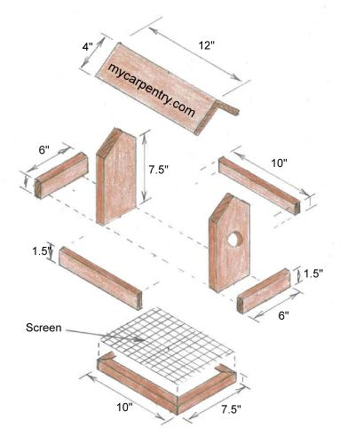 39 Ingenious Diagrams For Your Home And Garden Projects: 156 Best Images About DIY Birdhouses On Pinterest