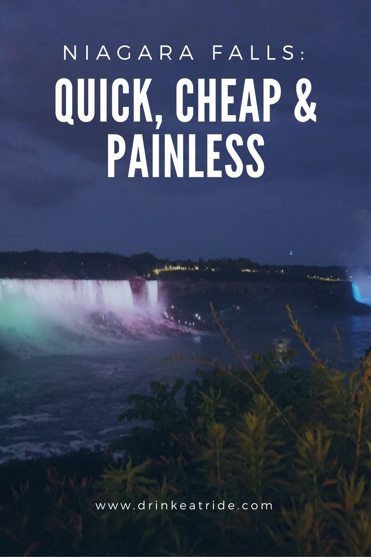 Countdown on…24 hours…we were in the Niagara Falls region for a wedding and had some spare time, so we optimised our time and money to be able to see Niagara Falls: quick, cheap and painless.
