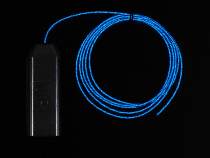 EL Flowing Effect Wire with Inverter - Blue 2.0 meter (6.5 ft)