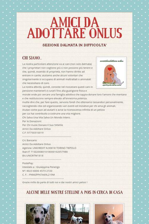 AMICI DA ADOTTARE ONLUS italia dalmatian rescue