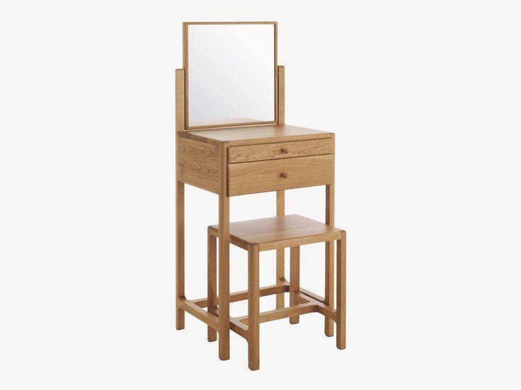 LIMBO NEUTRAL Wood Oak dressing table and stool - HabitatUK £250 Space saving dressing table 50cm wide