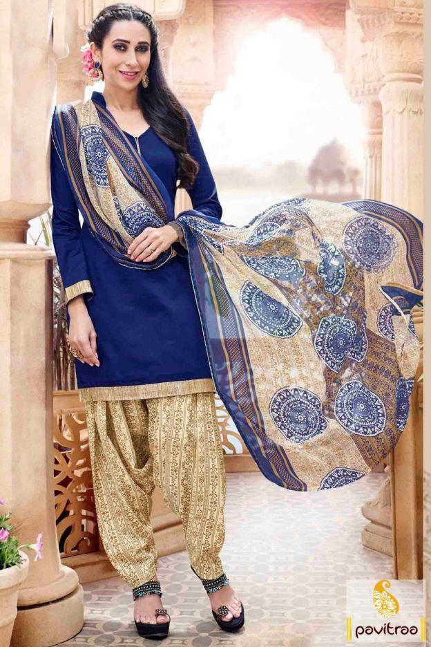 Get the Karishma Kapoor special cobalt blue punjabi patiala salwar suit online shopping with discount price. Purcahse this chiffon patiala suit at lowest price in India. #salwarkameez, #cottonsalwarkameez, #casualsalwarlameez, #printedsalwarkameez, #patialasalwarkameez, #churidarsalwarkameez, #discountoffer, #pavitraafashion, #utsavfashion http://www.pavitraa.in/store/patiala-salwar-suit/ callus:+91-7698234040