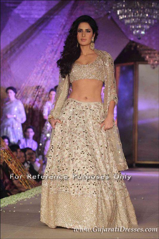 Buy bollywood replica of Katrina Kaif in mirror work lehenga choli by Manish Malhotra 2016 with free shipping.