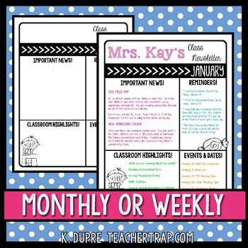 The 25+ best Weekly classroom newsletter ideas on Pinterest - weekly newsletter template