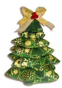 Ceci EuQfiz: Árvore de natal feita com estrelas de tecido com molde
