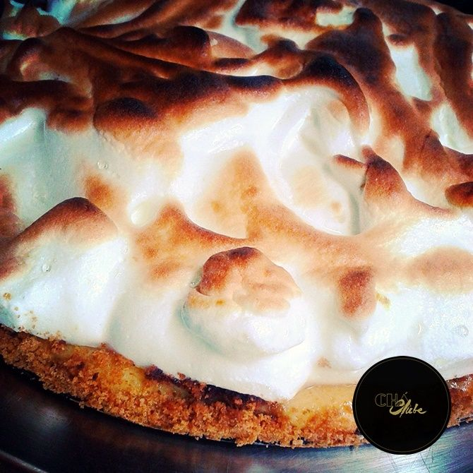Óptima tarte merengada. Best Meringue Pie in Portugal. Awesome Meringue cake.