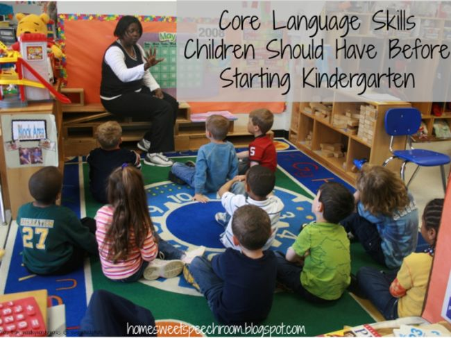 Core Language Skills Children Should Have Before Starting Kindergarten - Playing With Words 365