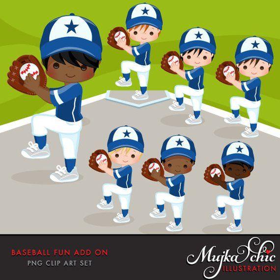 Baseball Clipart Add On Baseball Graphics Baseball Players Etsy Kids Playing Baseball Baseball Players Clip Art