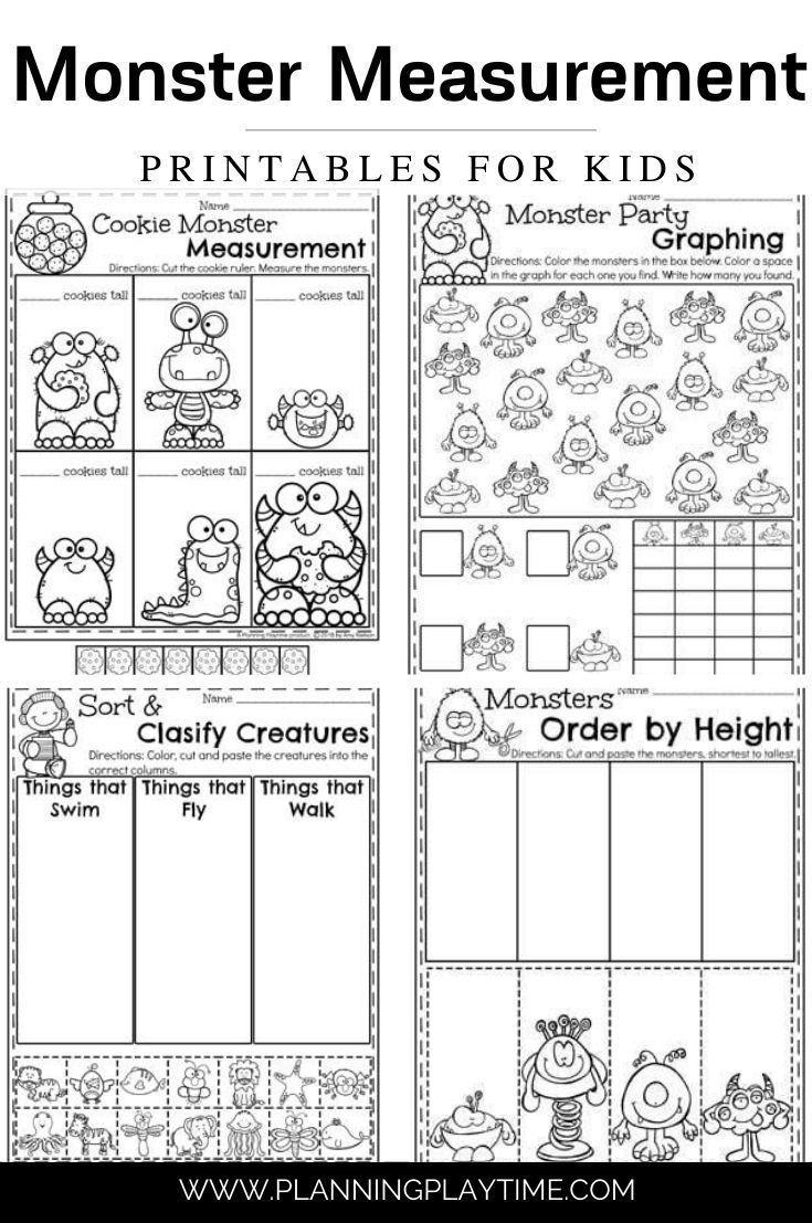 Measurement Worksheets Planning Playtime In 2020 Measurement Worksheets Kids Math Worksheets Measurement Kindergarten